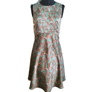 Limited party dress 2 xs green fleur de lis short